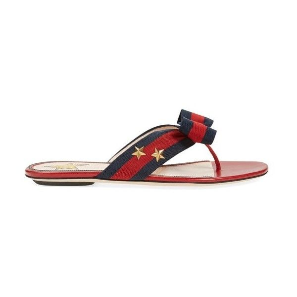 dc2057b041b Women s Gucci  Aline  Bow Thong Sandal ( 495) ❤ liked on Polyvore featuring