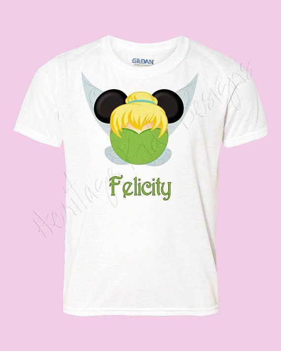 Tinkerbell Minnie shirt  Disney Mouse ears  tinkerbell shirt