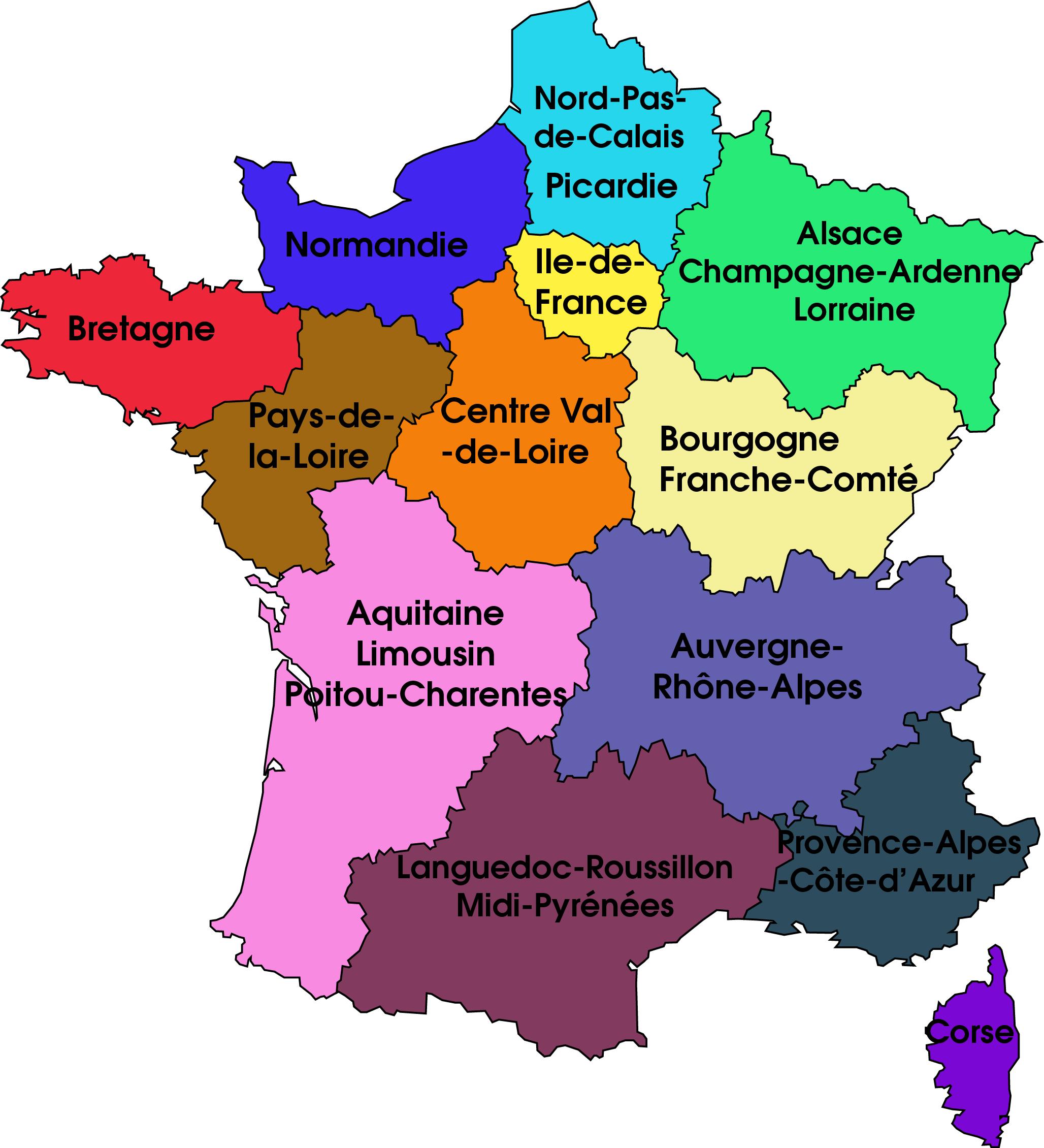 Point sur les nouvelles régions Françaises Nouvelles