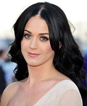 dark hair of kate perry