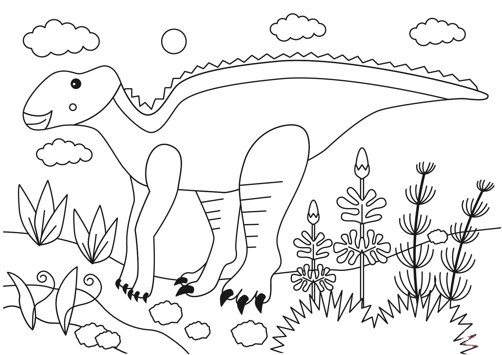 This is an amazing image of a Rhinorex dinosaur. It is an