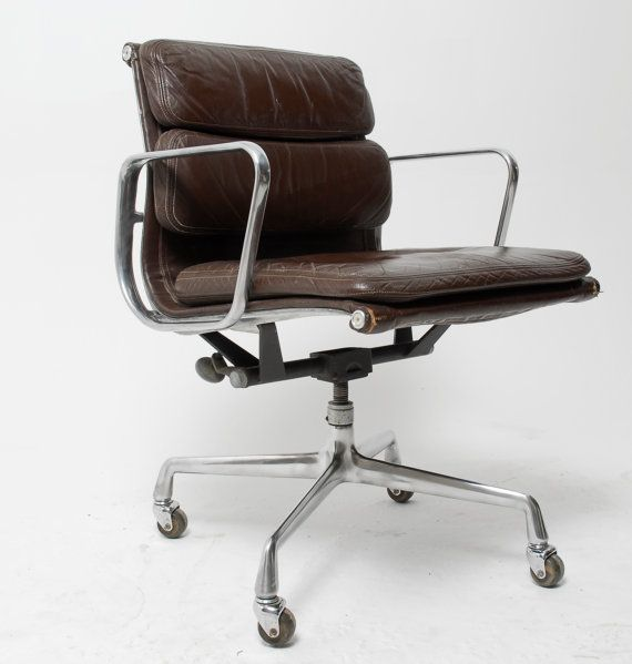 vintage eames for herman miller aluminum group soft pad leather executive chair st hle chairs. Black Bedroom Furniture Sets. Home Design Ideas