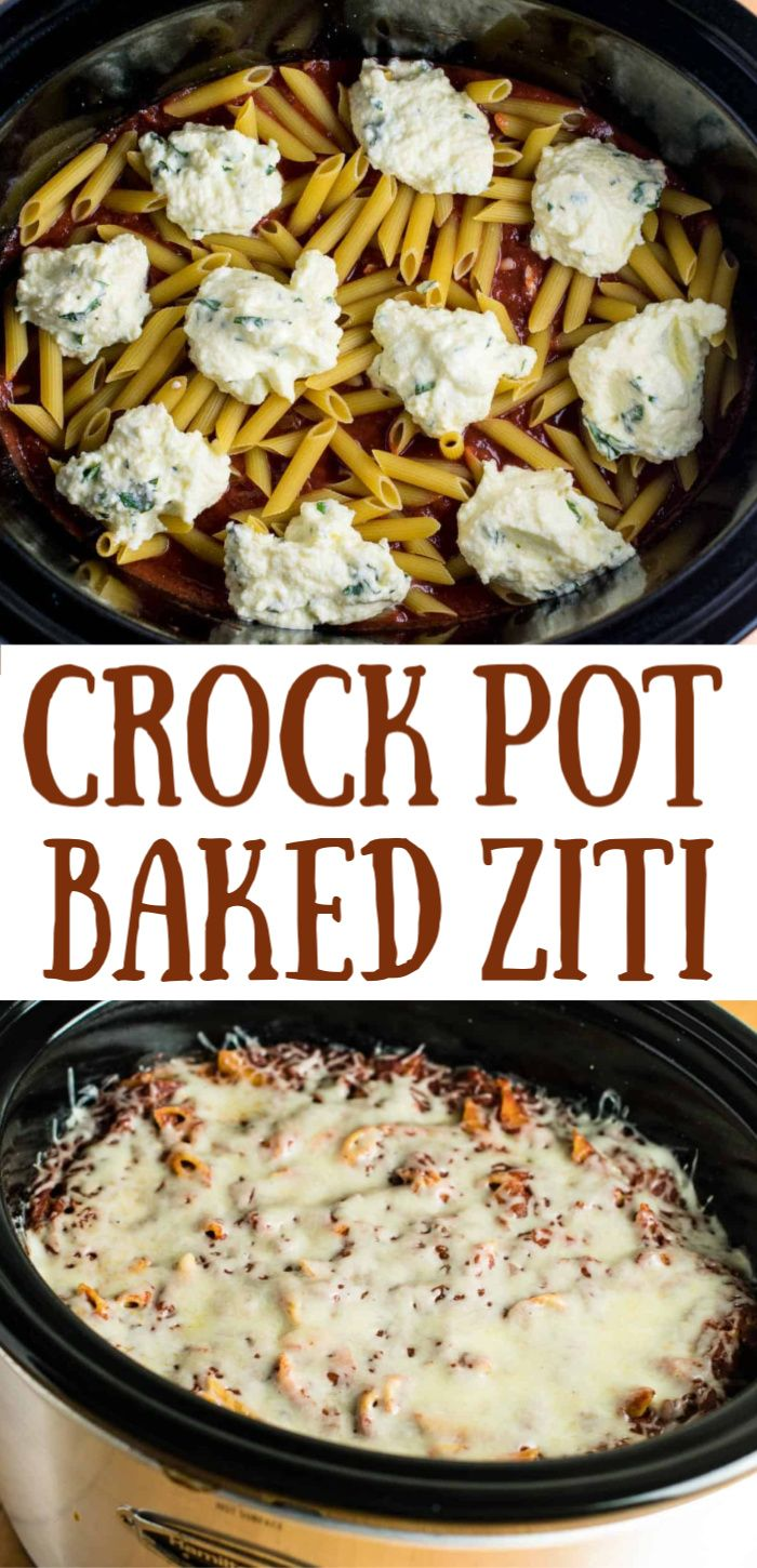Crock Pot Baked Ziti -   19 dinner recipes easy crockpot ideas