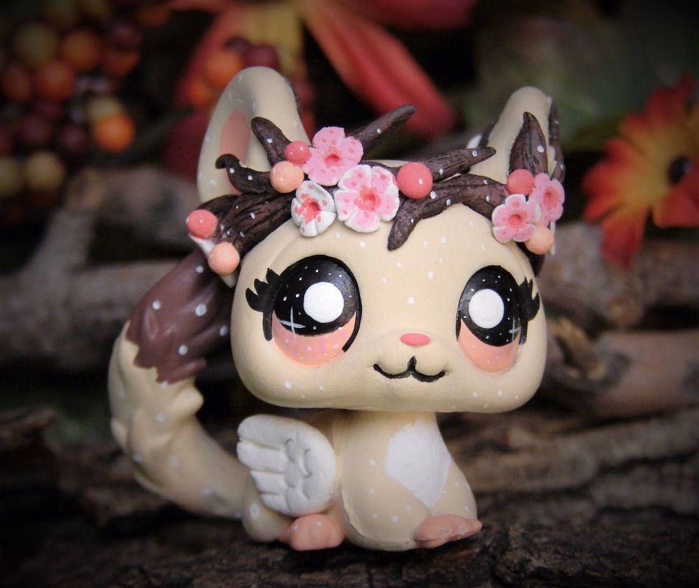 Littlest Pet Shop Forest Spirit Blossom tree crown OOAK custom figure LPS chibi #Hasbro