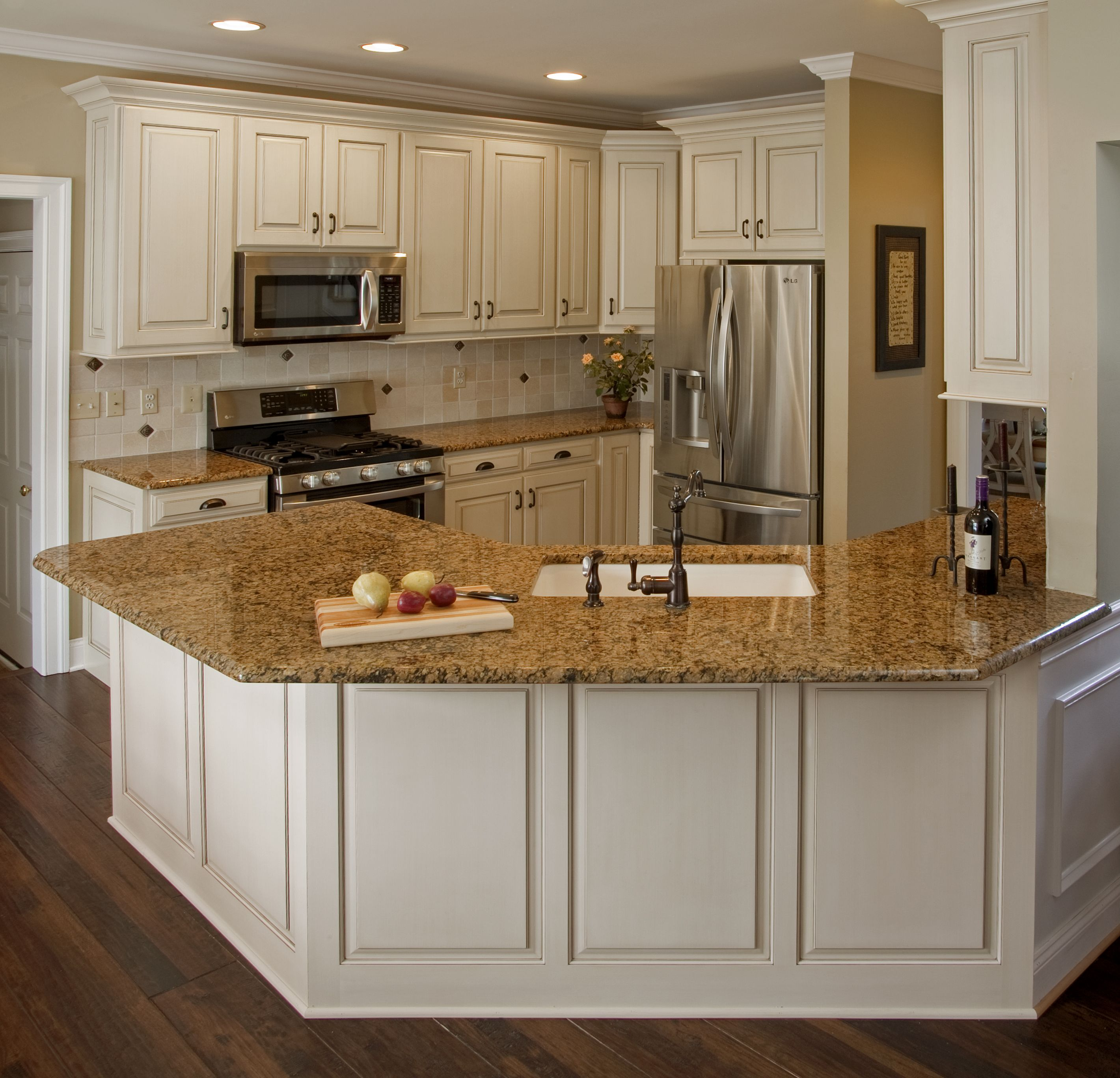 White Kitchen Cabinets Refinishing: Home And Garden Design Idea's