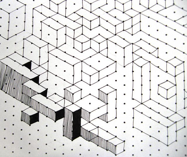 Isometric Cuboids  Op Art Graph Paper And Art Kids