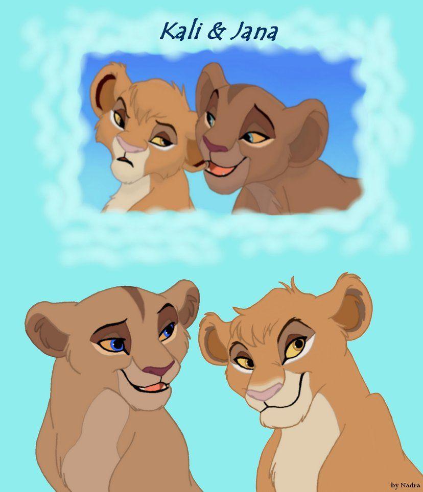 Kali and Jana , Vitani & Kopa's cubs. The one that is ...