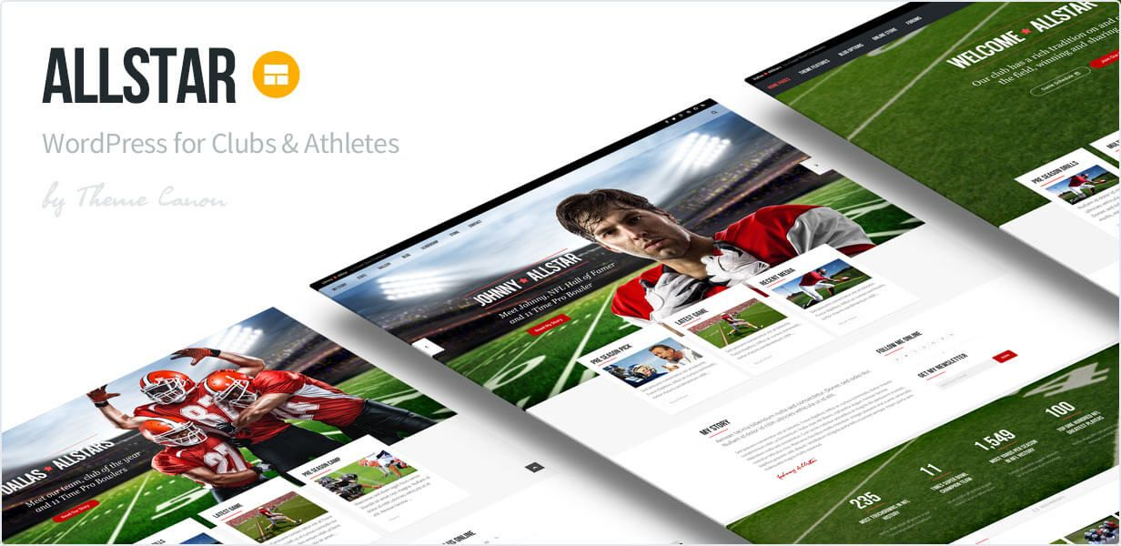 Sport WordPress Club Theme Hering