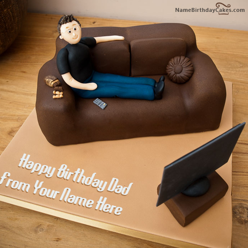 Cake Designs For Fathers Birthday : Write name on Creative Birthday Cake For Father - Happy ...