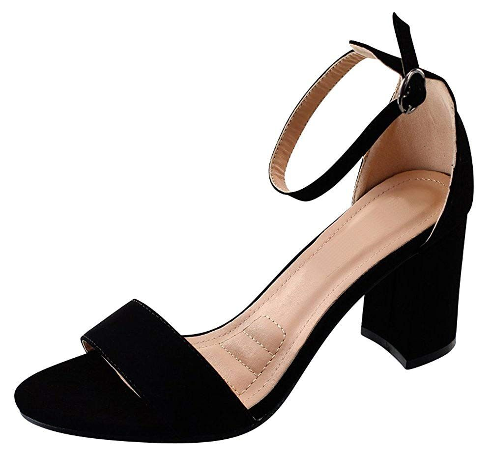 7a2e653ff4a Cambridge Select Women s Open Toe Single Band Buckle Ankle Strap Chunky Mid  Block Heel Sandal     Thanks for visiting our photograph.