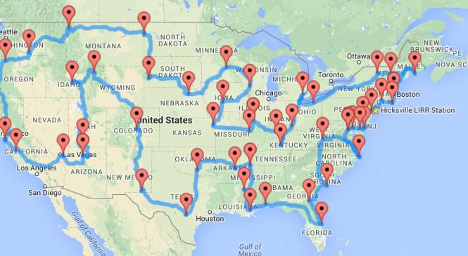 The Ultimate Road Trip of U.S.