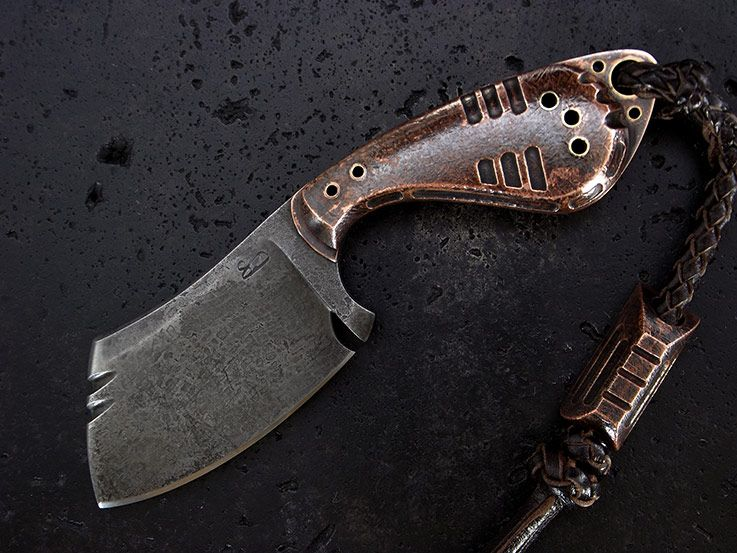 Stone Wood Designs Custom Cleaver Knife 234 Knives