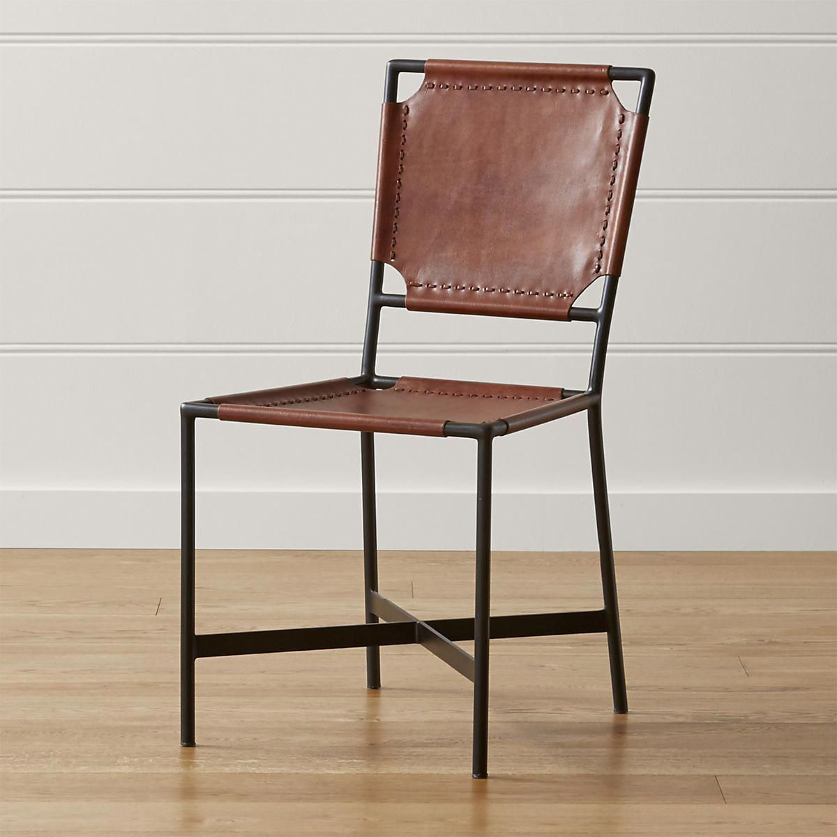 Crate And Barrel Rocking Chair Laredo Brown Leather Dining Chair Crate And Barrel