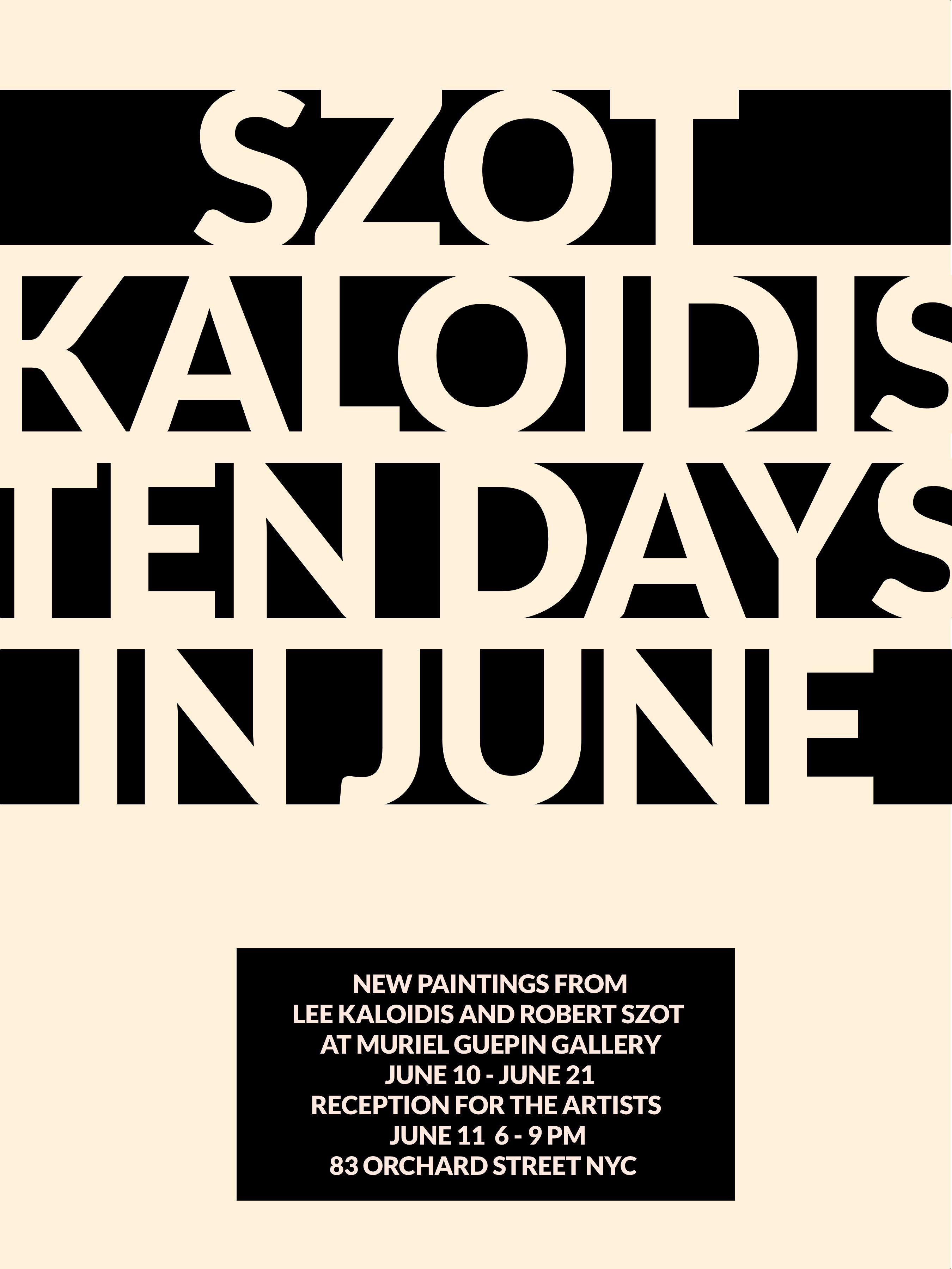 kaloidis szot revised dates