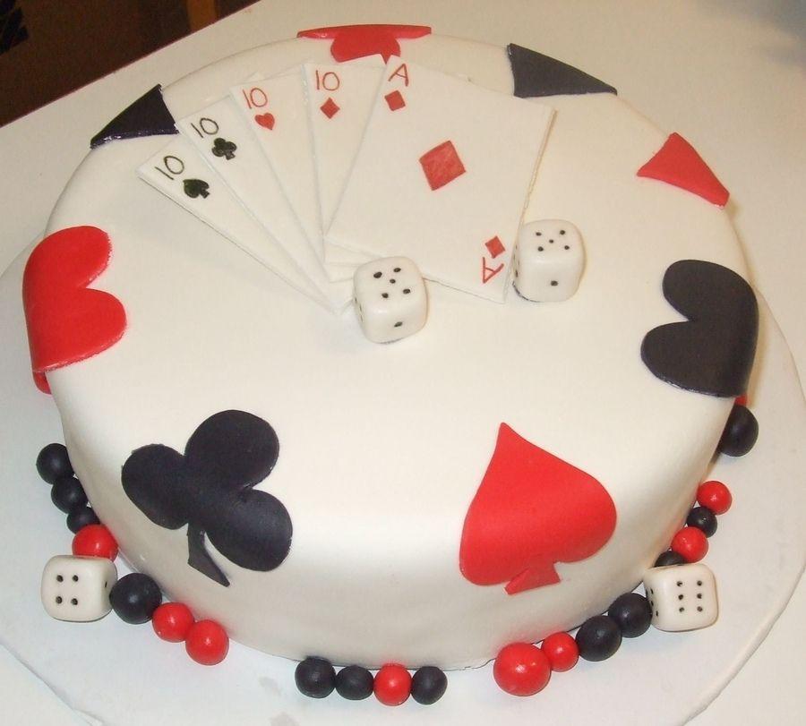 Cake Decoration Playing Cards : Playing Card Cake   Poker Cakes / Las Vegas Casino ...