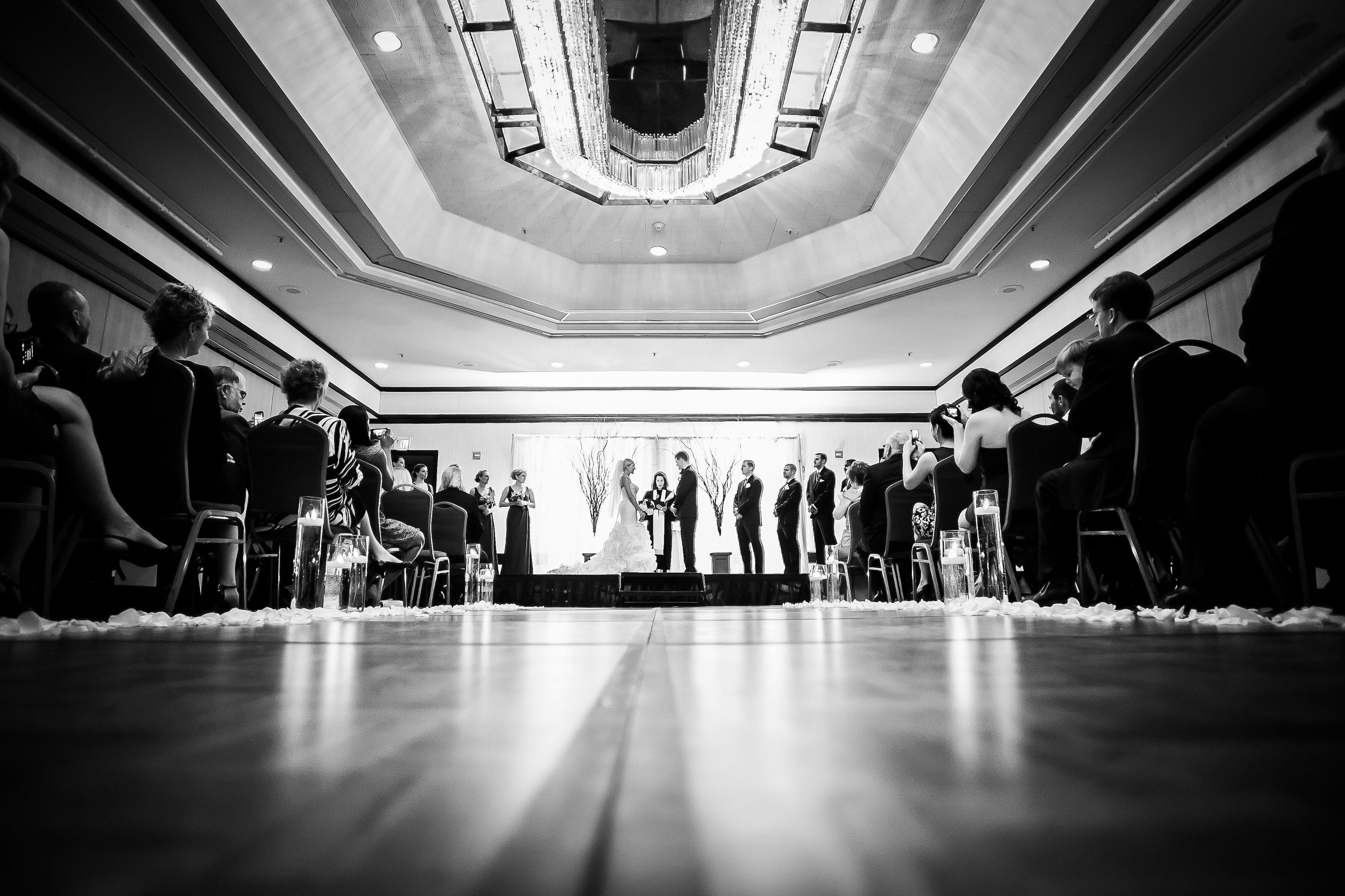 Ceremony in our Chesapeake Ballroom Harbor hotel, Harbor