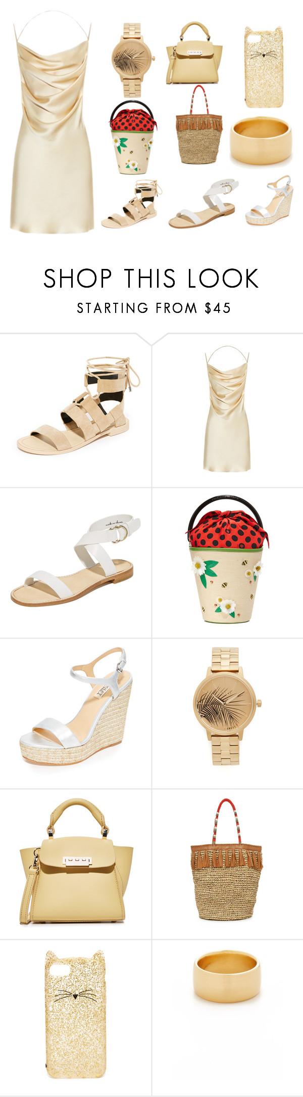 """Running Sale"" by cate-jennifer ❤ liked on Polyvore featuring Rebecca Minkoff, Yves Saint Laurent, Joie, Charlotte Olympia, Badgley Mischka, Nixon, ZAC Zac Posen, Cleobella, Kate Spade and Soave Oro"