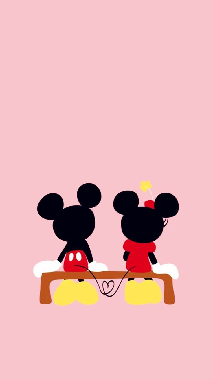 Famosos Papéis de parede românticos do Mickey e Minnie para celular  DO01