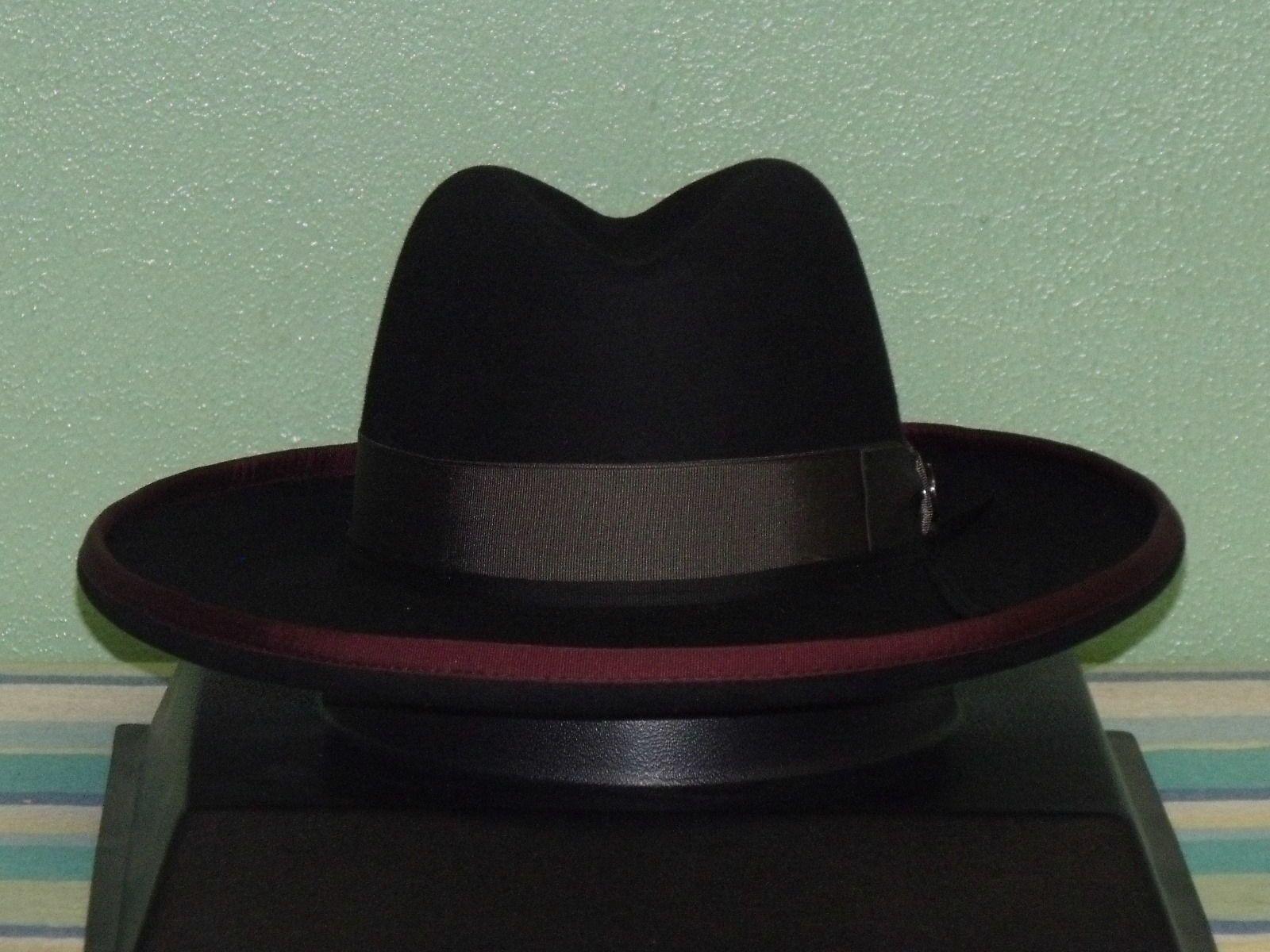 Stetson west bound b rolled brim royal deluxe fur felt fedora hat ... 9897e71712c