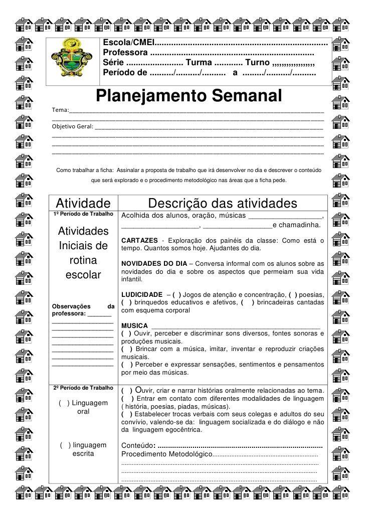 Favoritos Ficha para o planejamento diário semed de simone helen drumond  UT66