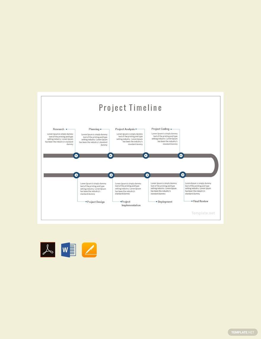 Free Project Timeline Project Timeline Template Templates Timeline