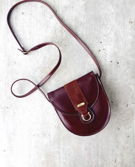 0100b56831 Vintage bag Celli Vintage Brown Bag Real Leather Handbag Shoulder ...