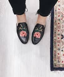 108053fc4217 Image result for Gucci Princetown Floral Leather Flat Mules