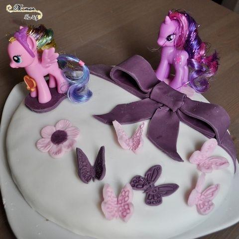 ide gteau anniversaire fille 1 2 3 4 5 6 ans dcoration little pony blanc rose - Gateau Anniversaire Fille 5 Ans