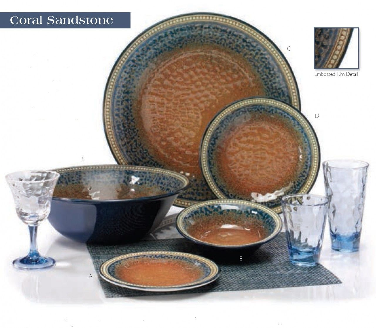 Merritt USA Coral Sandstone 11\  Melamine Dinner Plate Set (Set of 6) -  sc 1 st  Pinterest & Merritt USA Coral Sandstone 11\