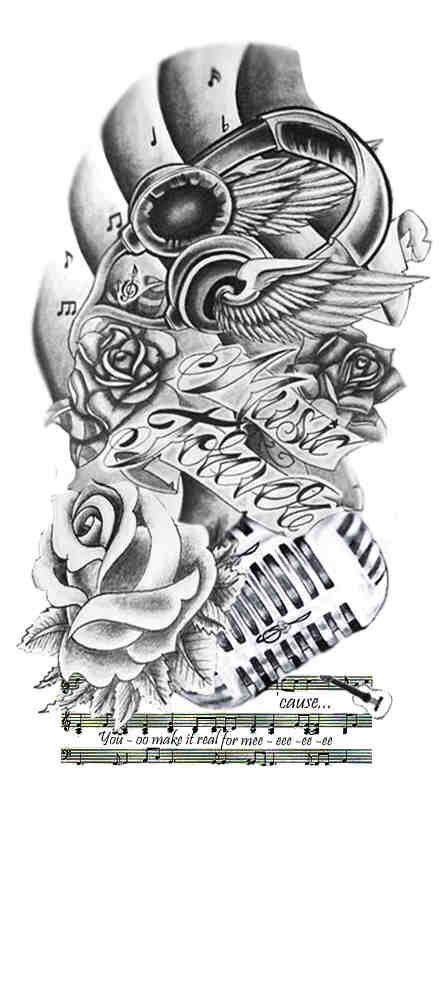 Half Sleeve Tattoos Music Tattoos Tattoos Tattoo Designs