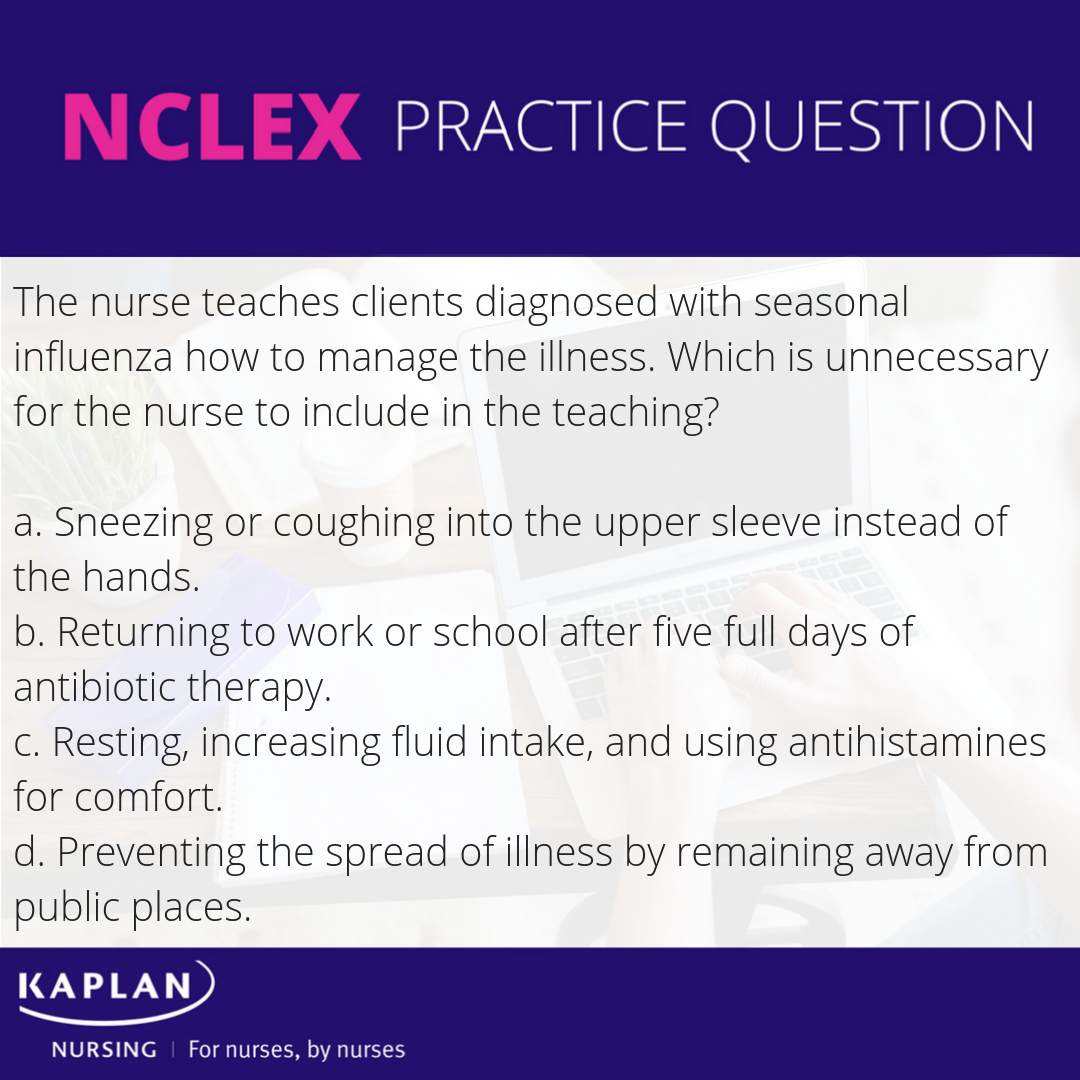 How do we manage the flu? Check out Kaplan Test Prep for