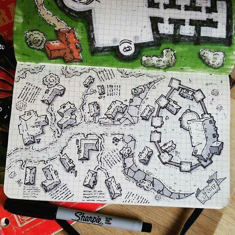 Design Kampagne Zeichnen En 2020 Cartes De Donjon Carte Imaginaire Croquis Architecte