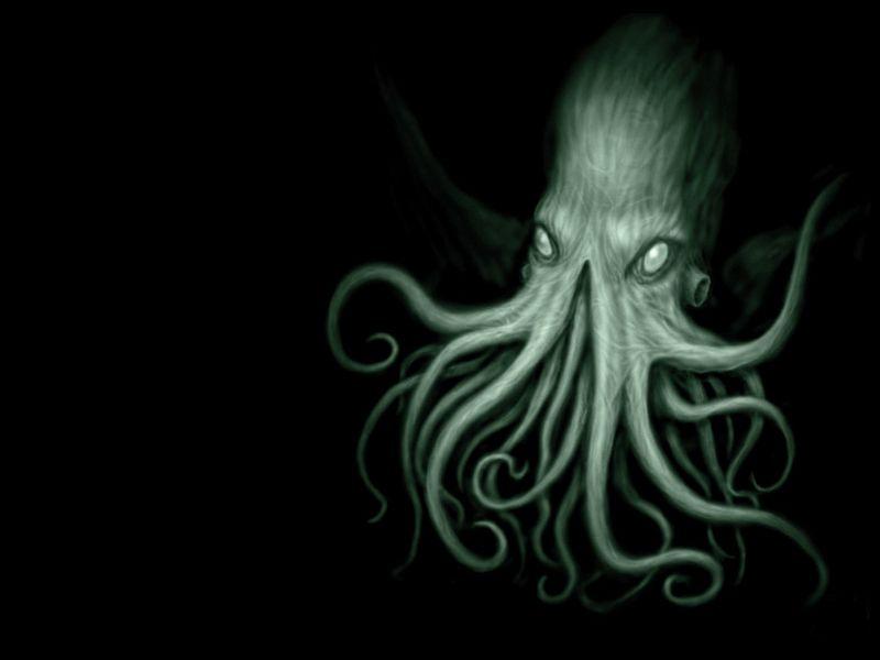 Tentacles Cthulhu Octopus Fantasy Art Black Background HD Wallpaper Free Downloads