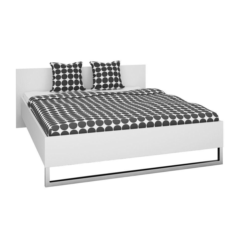 Einzelbett weiß metall  Bett Style (140x200 cm, weiß) | Stil