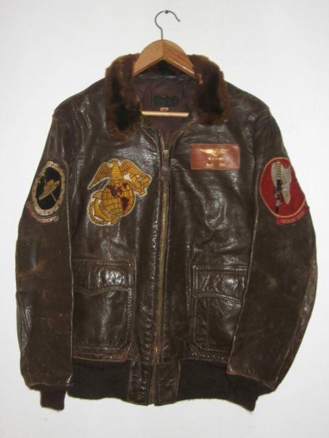 bea87d68a82 Flight Jacket G-1 - Americain pilote jacket - Corsair WW2-Coree ...