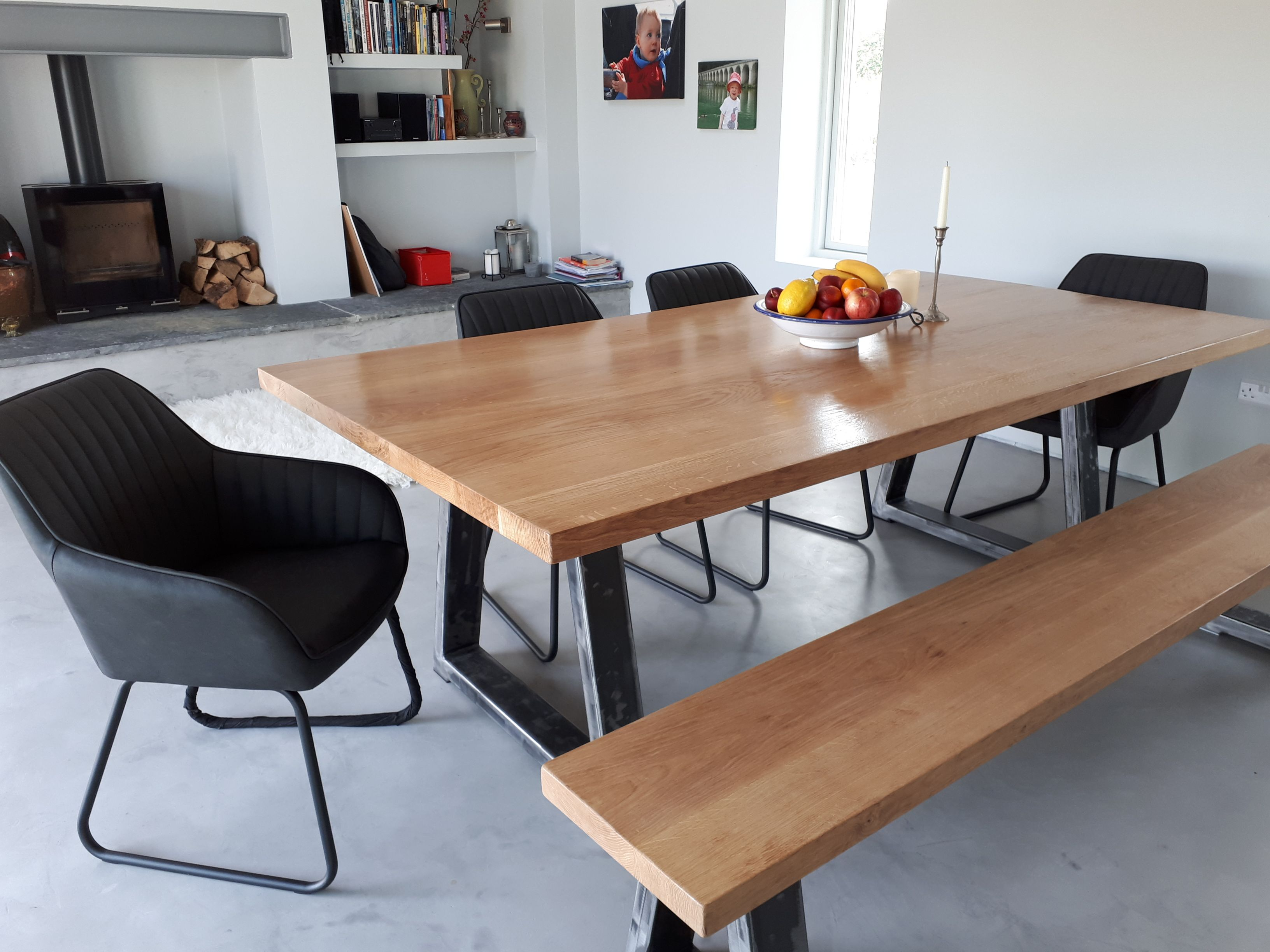 This beautiful image was sent by the client , showing our table