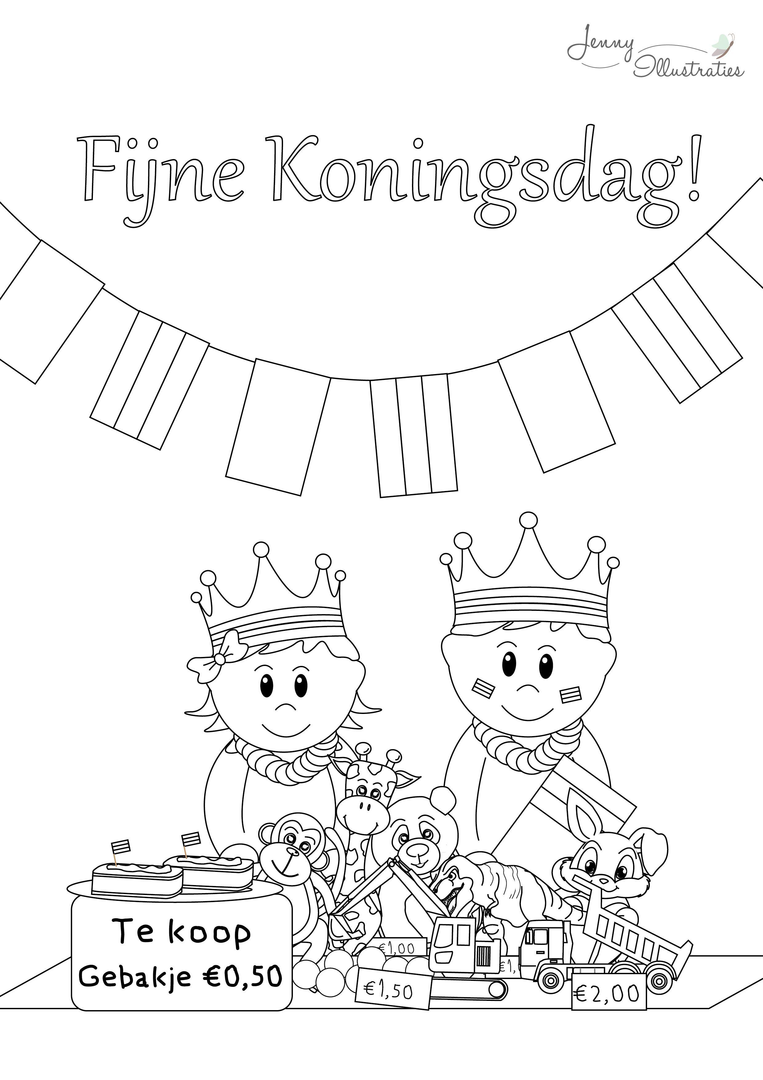 gratis kleurplaten koningsdag