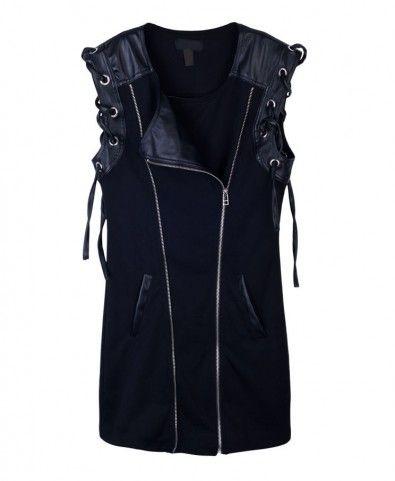 Oversize Sleeveless Biker Jacket