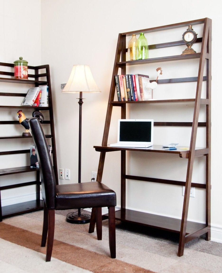 Ladder style bookshelf desk bedroom pinterest bookshelf desk