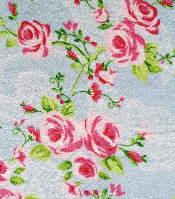 Ultra fluffy fabric rose on paisley cuddling fabrics and project