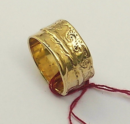 14kt Gold Wedding Ring Size 8 Or 5 Band By Hedvaelanyjewelry