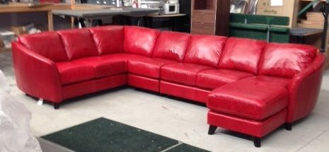 Palliser Alula In Bison Dark Red Sectional Sofa Sectional Couch