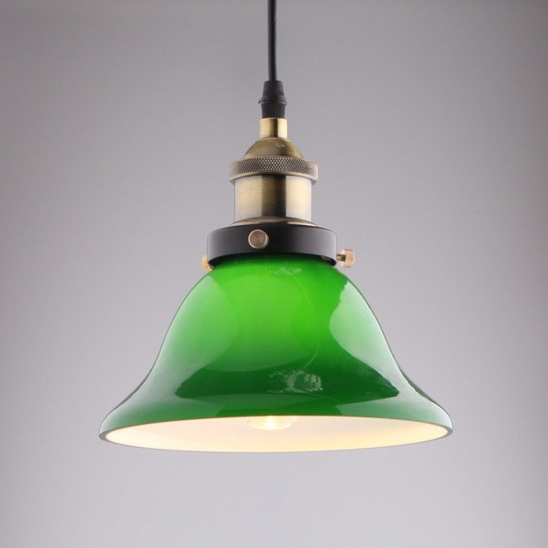Vivid Emerald Green Glass Retro Pendant Light----- $56.99