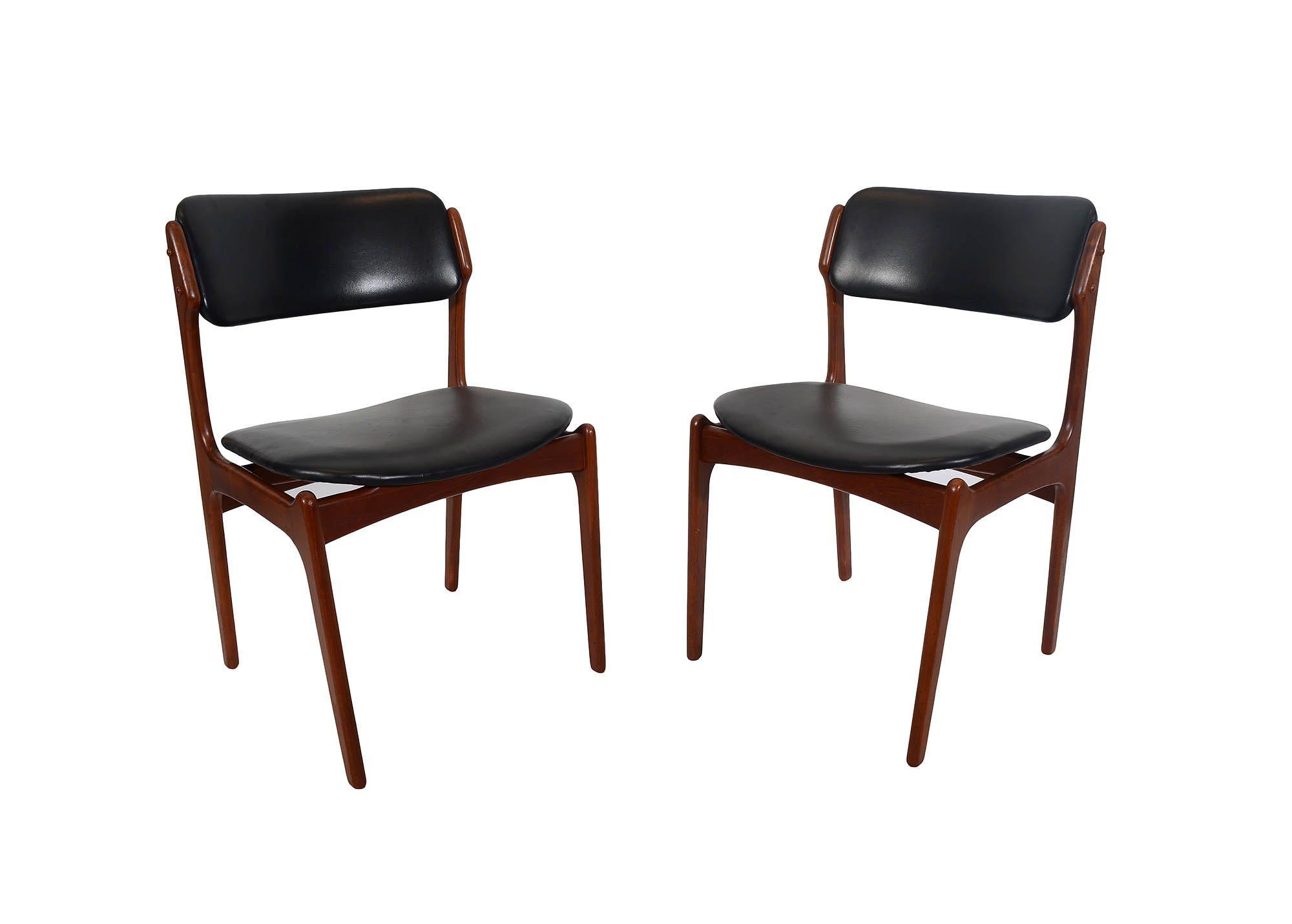 6 teak dining chairs erik buch danish modern od mobler model 49