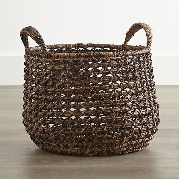 Large Zuzu Basket with Handle | Crate and Barrel