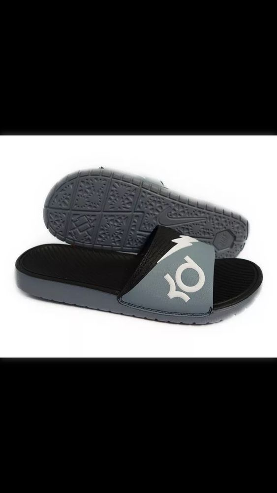 52c9426c4d7a7b Nike Solarsoft KD Slide 2 Dove Grey White Black Mens Sandals Size 9  Nike   Walking