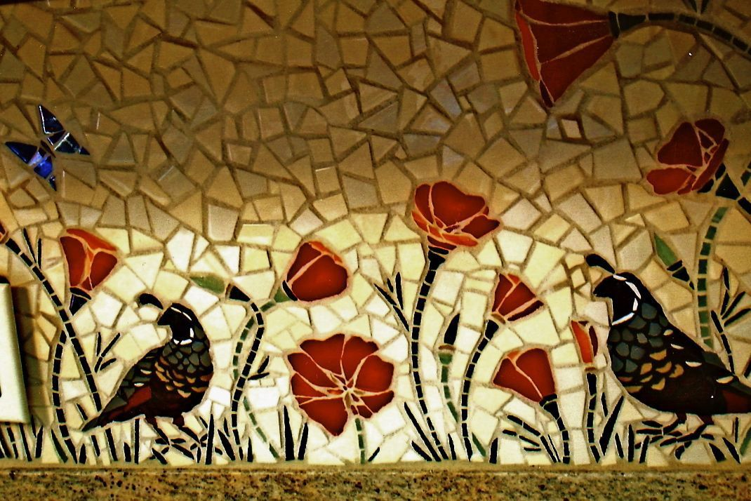 mosaic poppies - Google Search