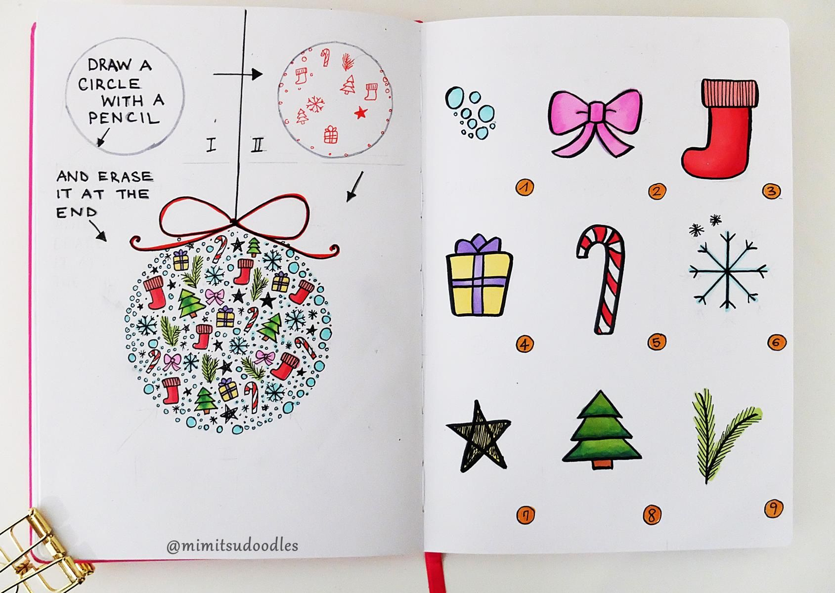 diy christmas doodles how to draw anleitung