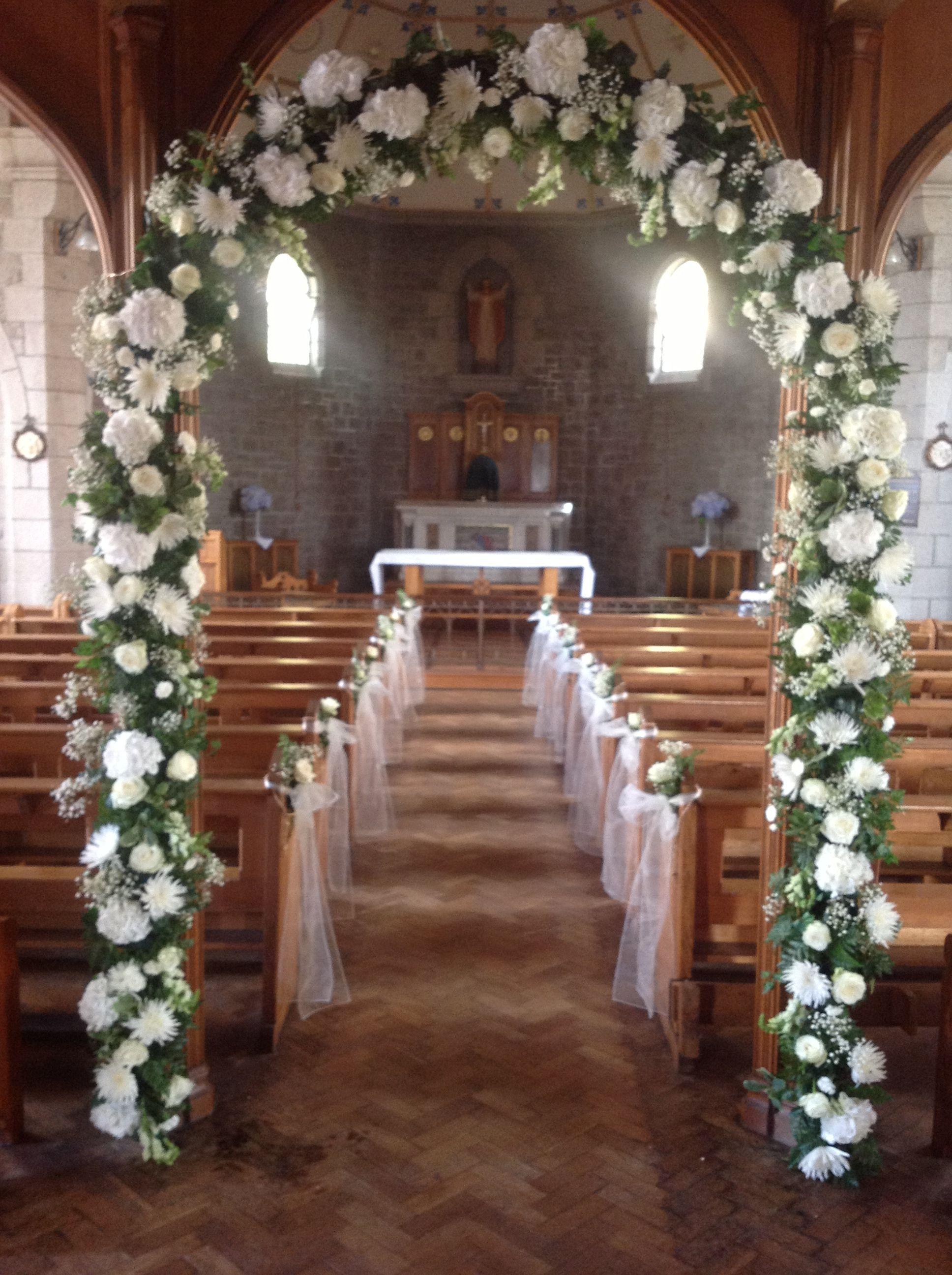 Beautiful White Church Arch Fleur D Amour Weddings