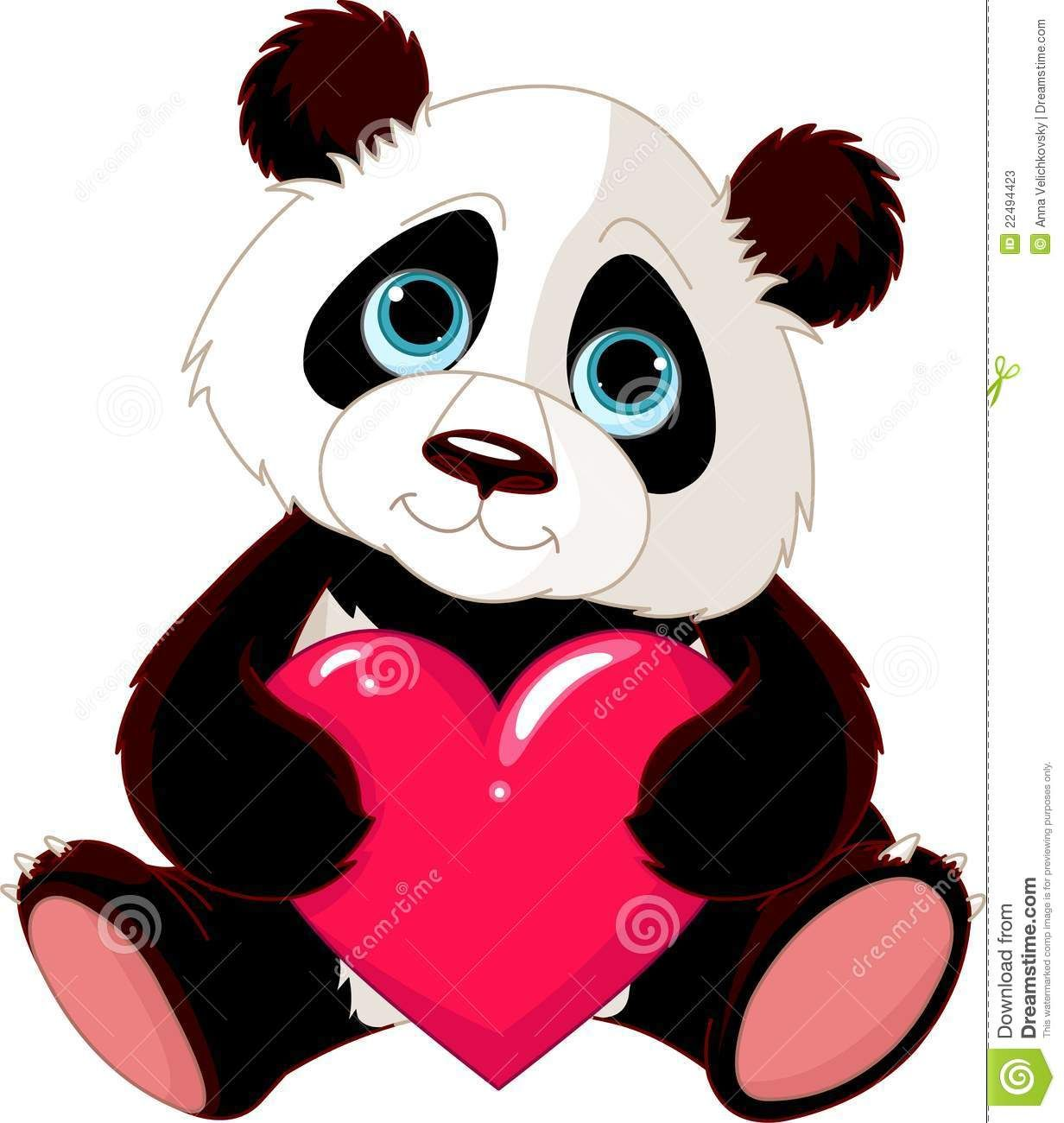 images animaux mignon avec coeur recherche google images panda cute panda et clip art. Black Bedroom Furniture Sets. Home Design Ideas